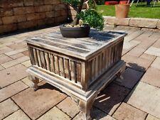 Couchtisch braun antik finish shabby Landhaus massivholz Tisch retro
