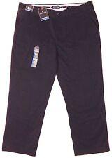 New St. John's Bay 38x29 straight fit flat front Black Chino Casual dress pants