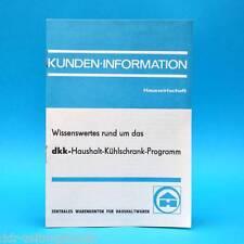 dkk-Haushalt-Kühlschrank-Programm | Kunden-Informationen um 1970 | DDR