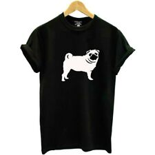 Pug T-Shirt Size 14 Black Gift Round Neck Short Sleeves  Pug Dog Lover