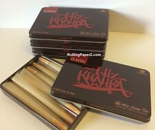 4X RAW Rolling Papers/Wiz Khalifa CONE Storage TIN (includes 24 CONES) KING SIZE