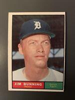 1961 Topps #490 Jim Bunning Detroit Tigers HOF