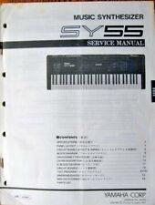 Yamaha Sy55 Synthesizer Keyboard Original Service Manual, Schematics, Parts List