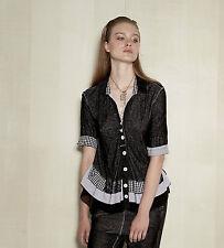Karierte Lockre Sitzende Damenblusen,-Tops & -Shirts mit Viskose ohne Mehrstückpackung