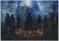 ELVENKING - HEAVY METAL - hand signed Autograph Autogramm Autogrammkarte