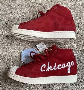 Mens Size 9 Adidas Originals Pro Model Chicago Red Shoes FV4485