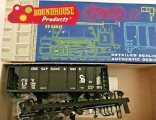 HO Scale Roundhouse Bev-bel Clinchfield 2 Bay Covered Hopper CRR 60244