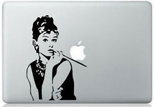 "Sticker Macbook Pro Air 15"" Hepburn Femme Woman Decal Apple Skin Aufkleber Dame"