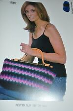 Plymouth Knitting Pattern P559 Felted Slip Stitch Bag