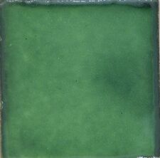25 Tiles Ceramic Mexican Handmade 2x2 Mexico Pottery 2-S002 Washed Green