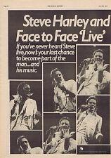 STEVE HARLEY large press clipping 1977 30x40cm (16/7/1977)