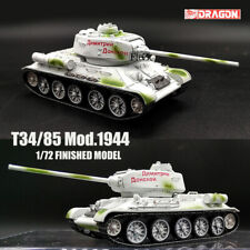 DRAGON WWII RUSSIAN T34/85 Mod.1944 1/72 tank model finished non diecast