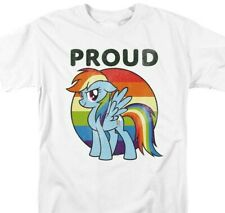 My Little Pony Pride T-shirt Rainbow Dash graphic printed cotton white tee