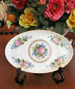 "Royal Albert "" Lady Carlyle ""  Ribbed Inner Edge Oval Serving Dish   1st Quality"