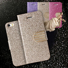 Crystal Diamond Glitter Bling Flip Wallet Stand Case Cover For iPhone 4 4S