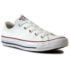 Converse All Star AS Ox Unisex UK 7.5 Optical White Canvas Trainers Oxford Shoes