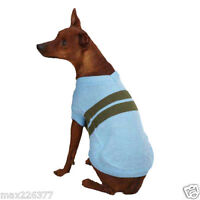 NEW Zack and Zoey Ivy League Dog  Pet Sweater Air Blue Stripes Small/Medium s/m