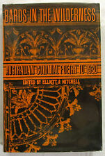 SIGNED Bards in the Wilderness Colonial Poets Elliott & Mitchell 1st EdHCDJ 1970