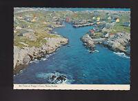 Air View of Peggy's Cove Nova Scotia rugged fishing village postcard