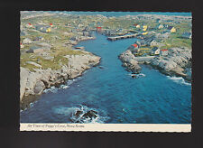 Air View of Peggy's Cove Nova Scotia rugged fishing village postcard