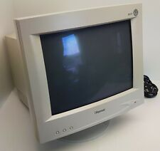 Hansol 501P CRT VGA Color Monitor [Vintage] Tested & Working. with foot.