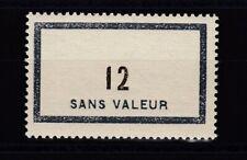 +++ France timbre fictif F121 - 12 sans valeur  MNH ** peu courant