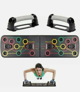 Foldable Push Up Board Push-up Stand Workout System Gym Fitness Body Training UK