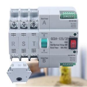 3P 100A Dual Power Automatic Transfer Switch 50Hz/60Hz PC Level 3 Poles 220V