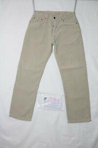 Levi's 551 D'Occassion (Cod.F2884) W32 L34 Jeans Droit en Velours Beige