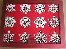 LENOX The TWELVE 12 GIFTS OF CHRISTMAS Snowflake Ornament set NEW in BOX