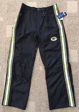 NFL Team Apparel Green Bay Packers Mens Medium (32-34) Tailgate Pants Waterproof