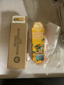 """Golden Road Mango Cart Ale Beer Tap Handle 8.25"""" Tall - Brand New In Box RARE!"""