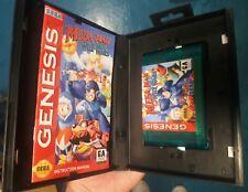 Sega Genesis MEGAMAN gerissenen Kriege Custom Blau Wagen, BOX, manual. Professional Label