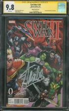 Civil War II 0 & 1 CGC Lot SS 9.8 Stan Lee Signed Ramos Variant Avengers War