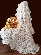 Round Picot Flower Shawl Crochet PATTERN!!. DK. Gorgeous Warm Baby Blanket.