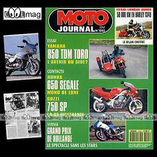 MOTO JOURNAL N°1045 HARLEY FLHS 1340 ELECTRA GLIDE SPORT, GUZZI SP 750, BURGGRAF