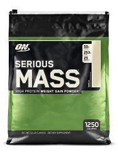 OPTIMUM NUTRITION Serious Mass Weight Gainer Protein Powder,12 Pound -NEW