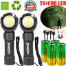 T6 COB LED Rechargeable Flashlight 360° Rotating Torch Work Light+26650 Battery