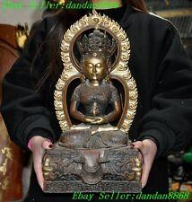 Tibet buddhaism bronze gilt Kwan-Yin Guanyin Bodhisattva Goddess buddha statue