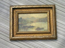 Antique Victorian Art Crafts Bronze~Gold Picture Frame Langdale Pikes~Blea Tarn