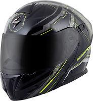 Scorpion EXO-GT920 Satellite Modular Motorcycle Helmet Neon