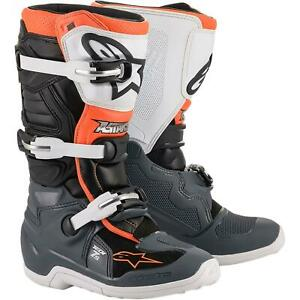 TECH 7S BOOT - BLACK/GRAY/WHITE/ORANGE FLUORESCENT - SIZE 4 2015017-1124-4