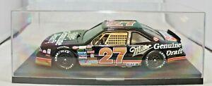 ERTL #27 Rusty Wallace Miller Pontiac 1:24 Scale Stock Car in Display Case