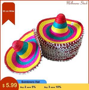Sombrero Hat Costume Hat Accessories Spanish Fiesta Fancy Party 55 cm wide