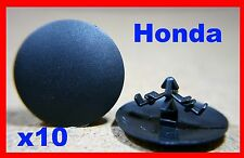 10 Honda hood bonnet sound insulation cover lining fastener clips pins