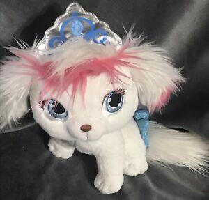 "Disney Princess Cinderella Palace Pets Pumpkin 9"" Plush White Puppy"