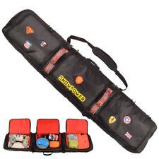 146/156/166/180cm Waterproof Snowboard Bag Travel Bag Snow Sport Ski Bag   Black