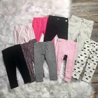 Girls Leggings Lot 18mo Zara Baby, Carter's 9 PCS