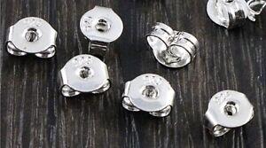 Ohrmutter Silber 925 Metall Verschluss Ohrstecker Ohrring Stopper Sicherung NEU