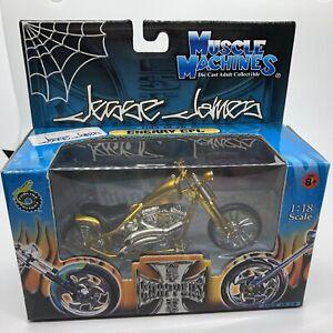 Muscle Machines Jesse James West Coast Choppers Cherry CFL JJ03-18-20 Scale 1:18
